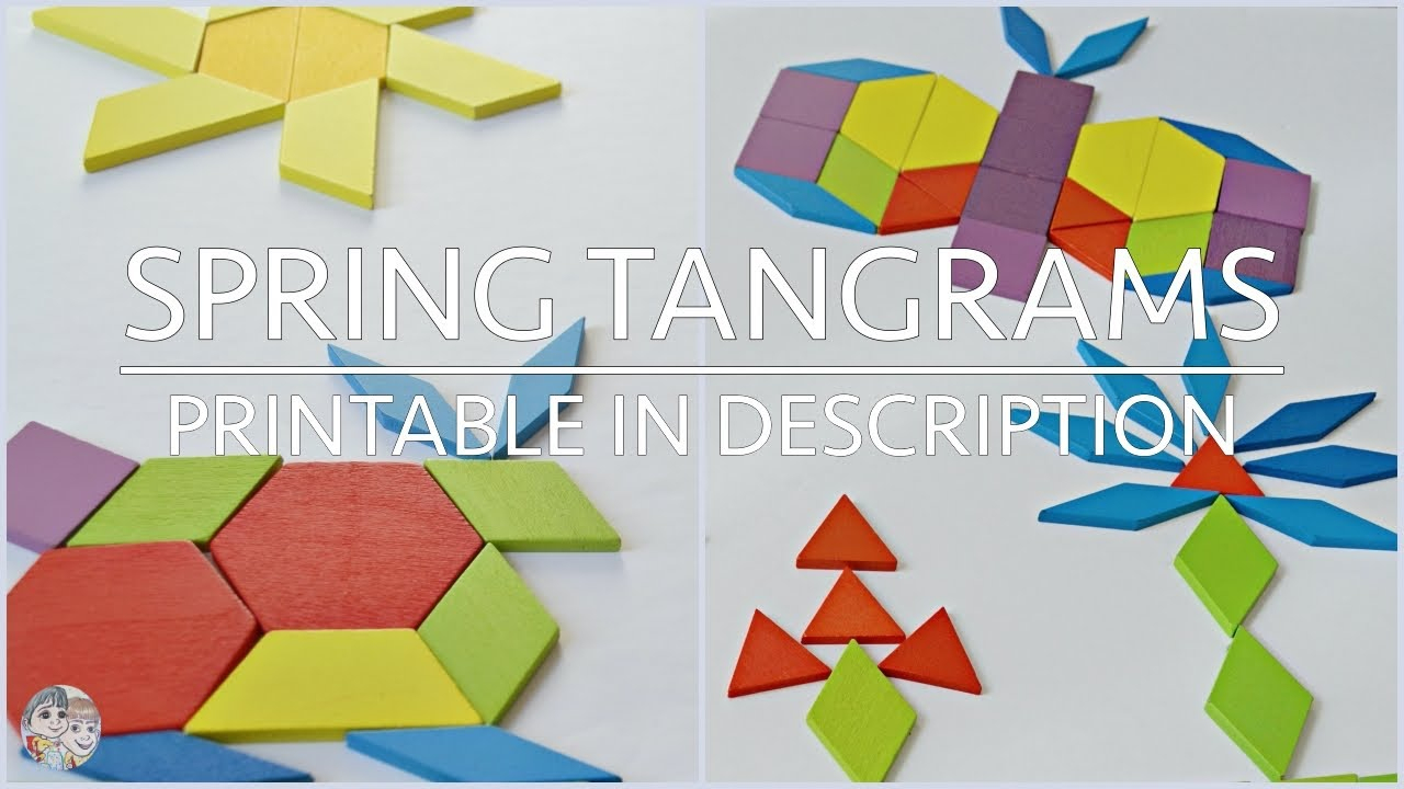 Spring Tangrams For Kids | Wooden Jigsaw Puzzle | Pattern Block Ideas For  Children concernant Tangram Chat