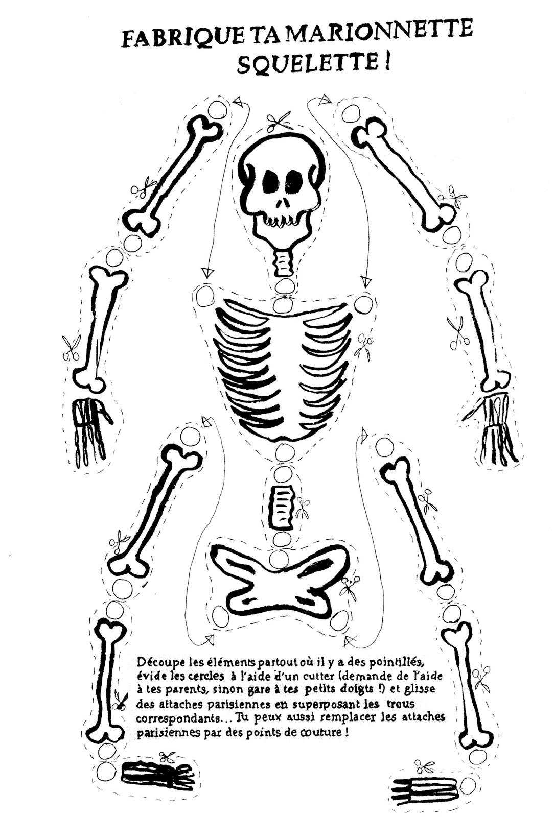 Squelette #30 (Personnages) – Coloriages À Imprimer dedans Decoupage A Imprimer