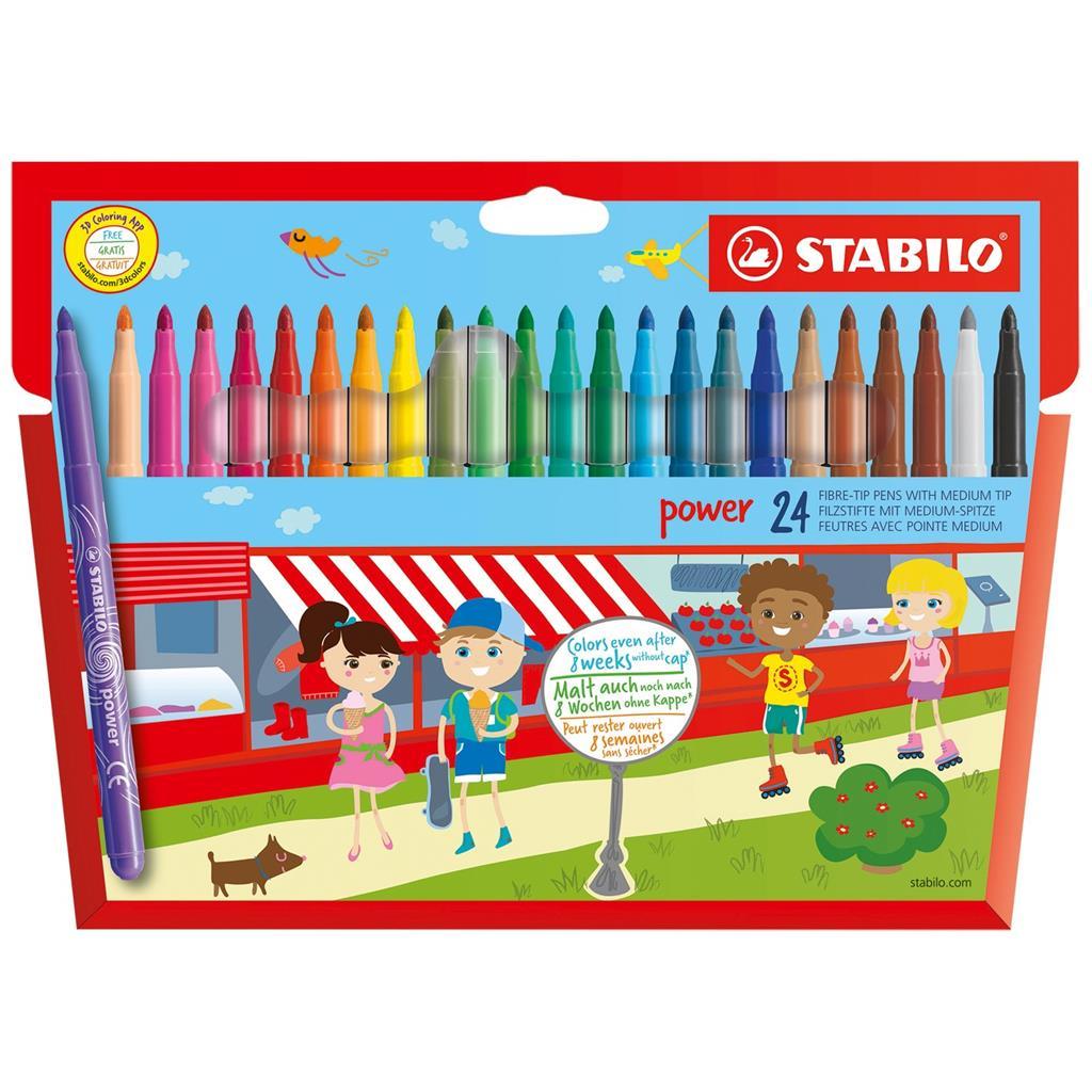 Stabilo Power 24 Fibre-Tip Pens | Van Der Meulen dedans Paper Toy Gratuit