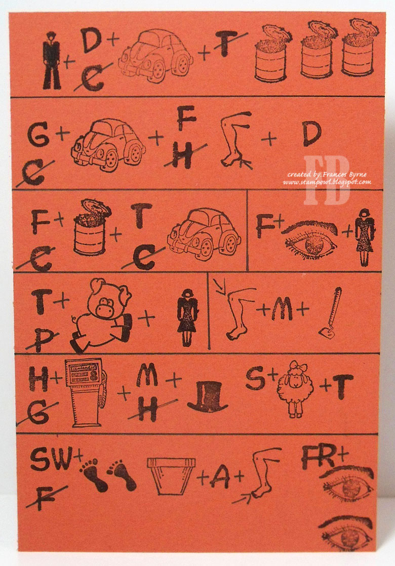 Stampowl's Studio: Rebus - Things That Are Orange encequiconcerne Rebus Noel
