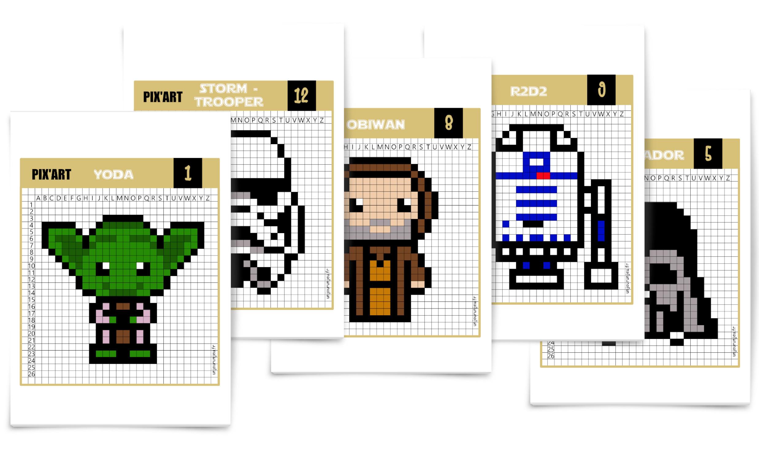 Star Wars : Que La Force Soit Avec Toi Pour Ces Pixel Art concernant Jeux De Dessin Pixel Art Gratuit