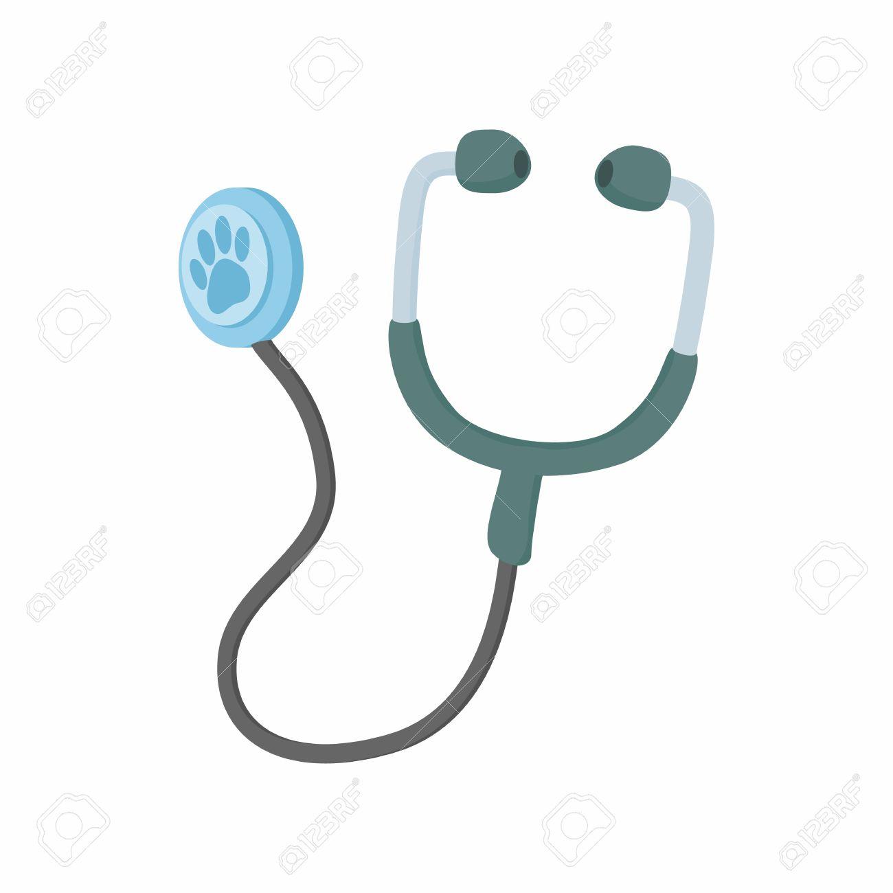 Stéthoscope Pour Les Animaux Icône Dans Le Style De Dessin Animé Isolé Sur  Fond Blanc. Médecine Vétérinaire Et Le Symbole De L'équipement avec Dessin Stéthoscope