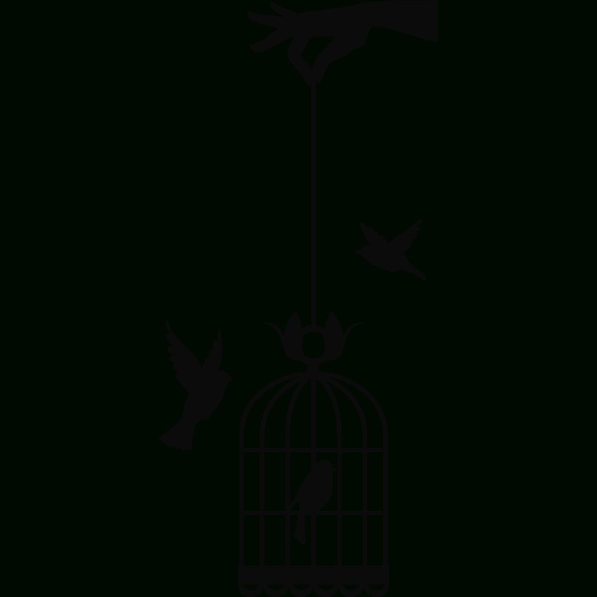 Sticker Main Tenant Cage À Oiseaux dedans Dessin De Cage D Oiseau