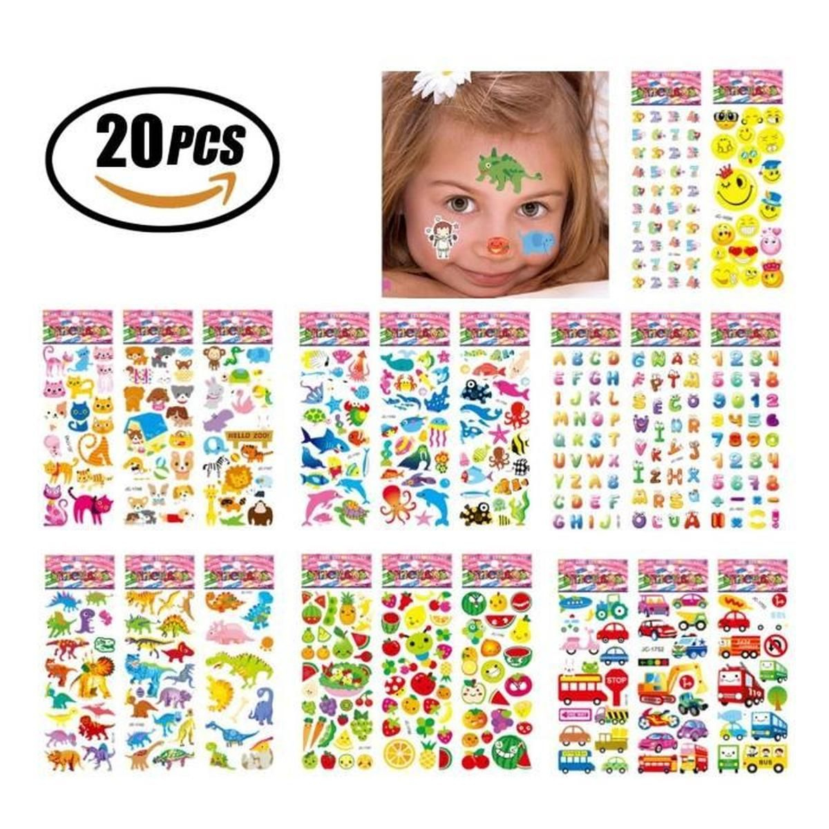 Stickers 3D En Relief Pour Enfant,fille Et Garçon De Grand tout Jeux De Grand Garçon