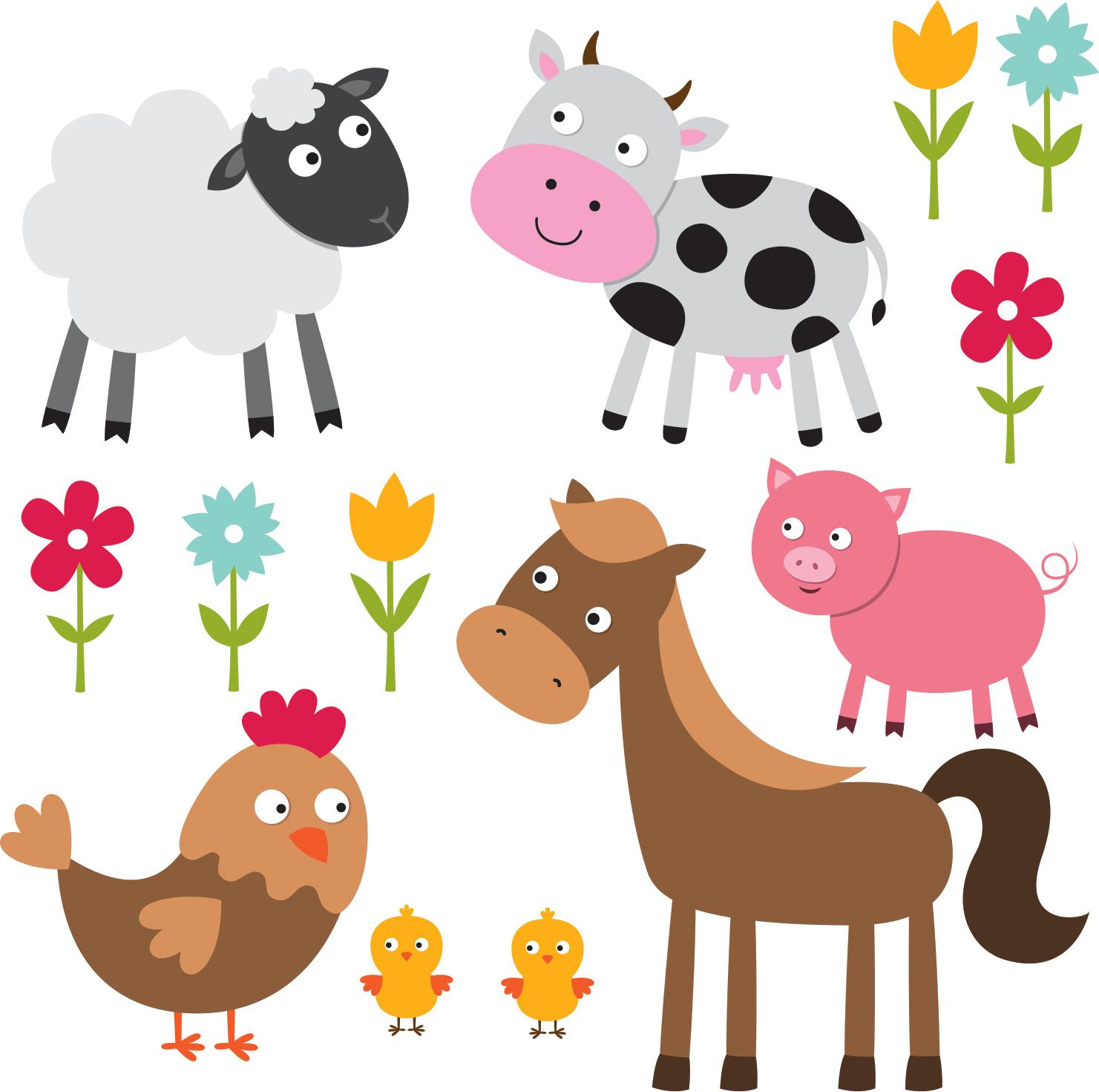 Stickers Adhésifs Animaux De La Ferme Colorée Pour Enfants à Apprendre Les Animaux Pour Bebe
