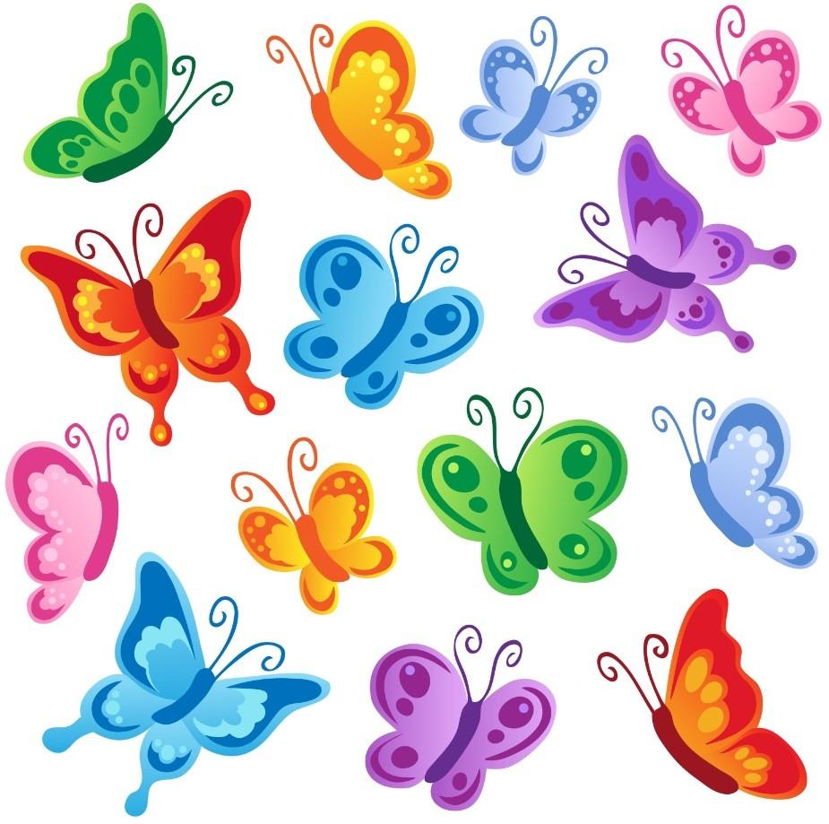 Stickers Papillon - Décoration avec Etiquette Papillon A Imprimer