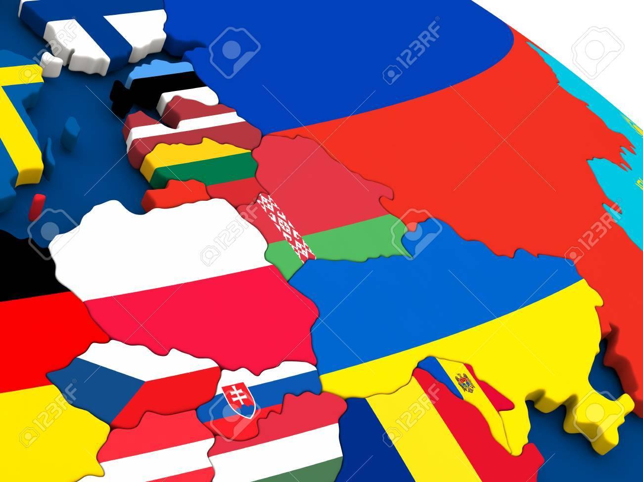 Stock Illustration encequiconcerne Carte Europe De L Est