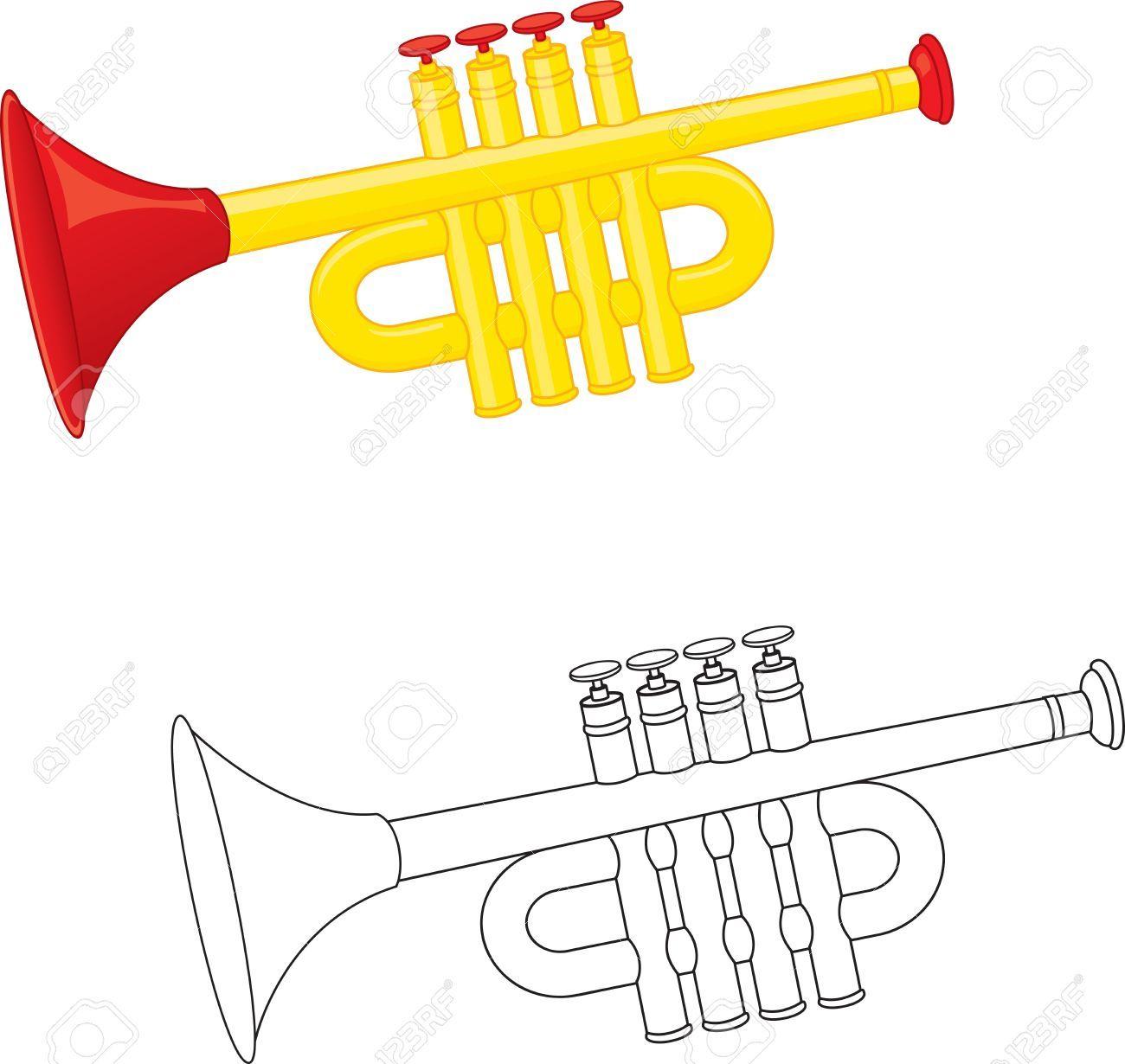 Stock Photo | Livres À Colorier, Trompette Et Colorier serapportantà Trompette À Colorier