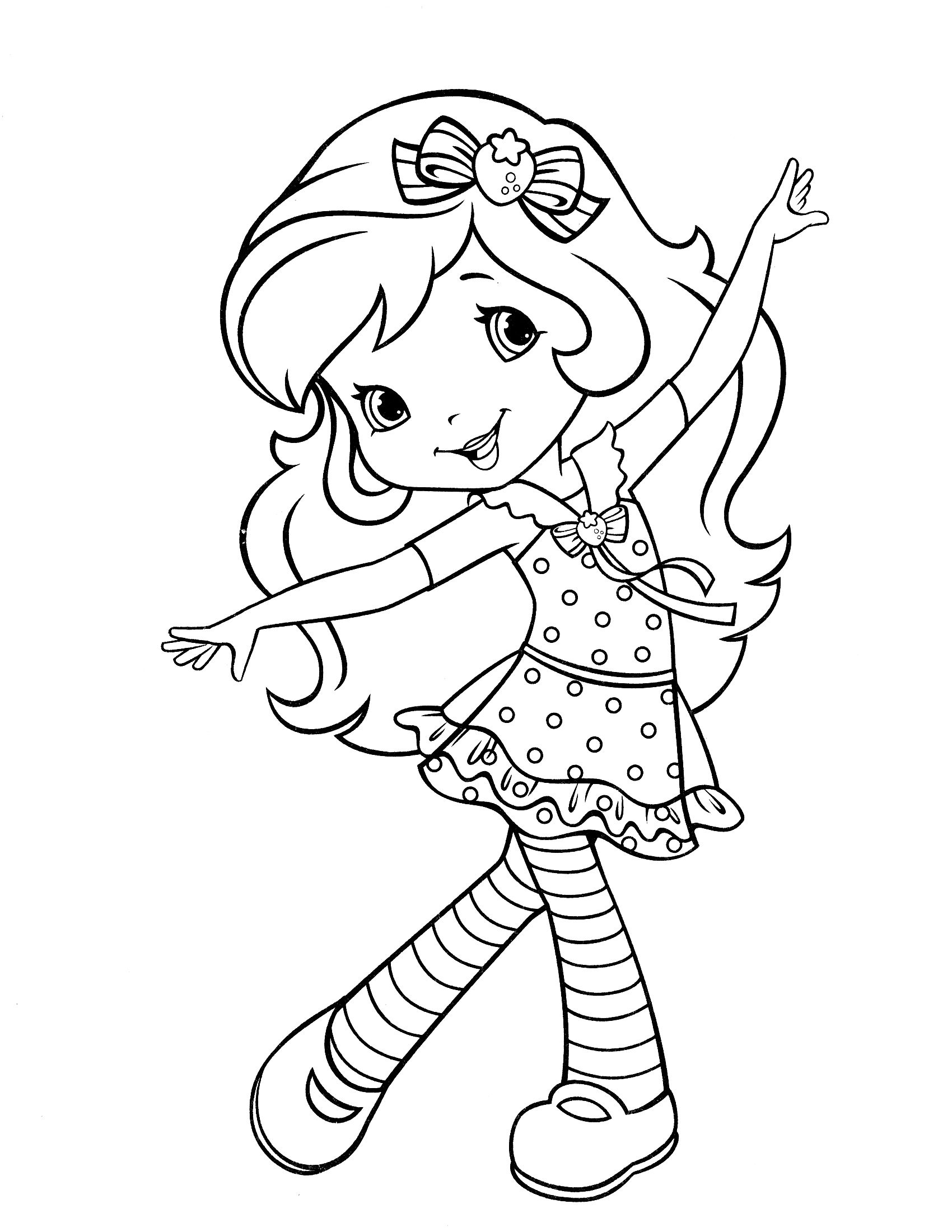 Strawberry-Shortcake-Coloring-Page-34 (1700×2200 destiné Charlotte Au Fraise Coloriage