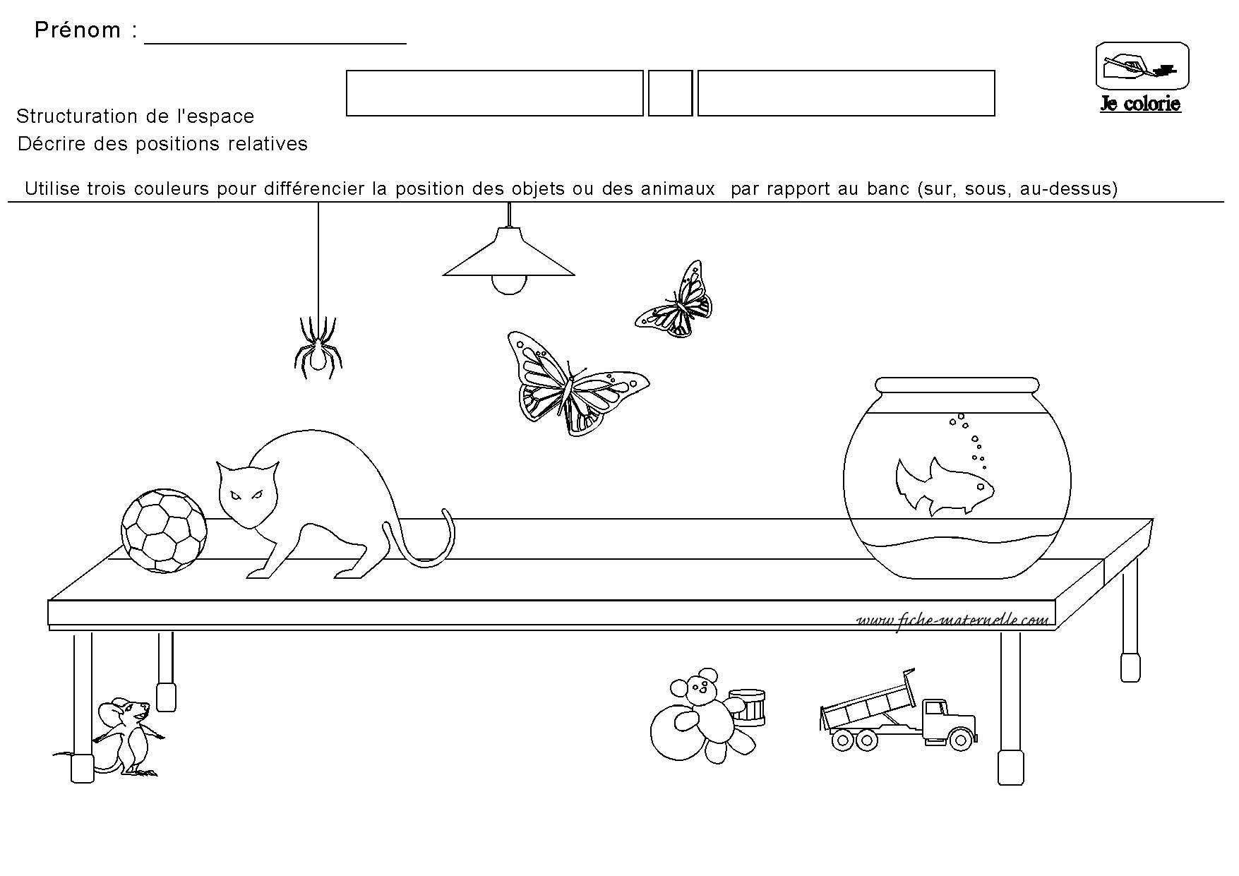Structuration De L'espace En Maternelle | Maternelle, Espace tout Exercice Maternelle Moyenne Section À Imprimer