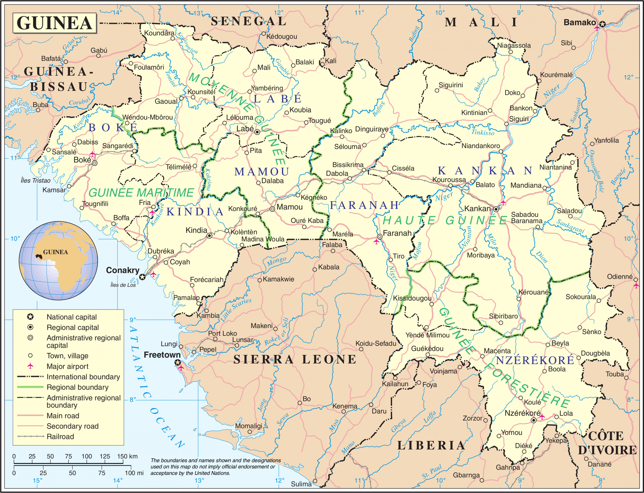 Subdivisions Of Guinea - Wikipedia à Decoupage Region France