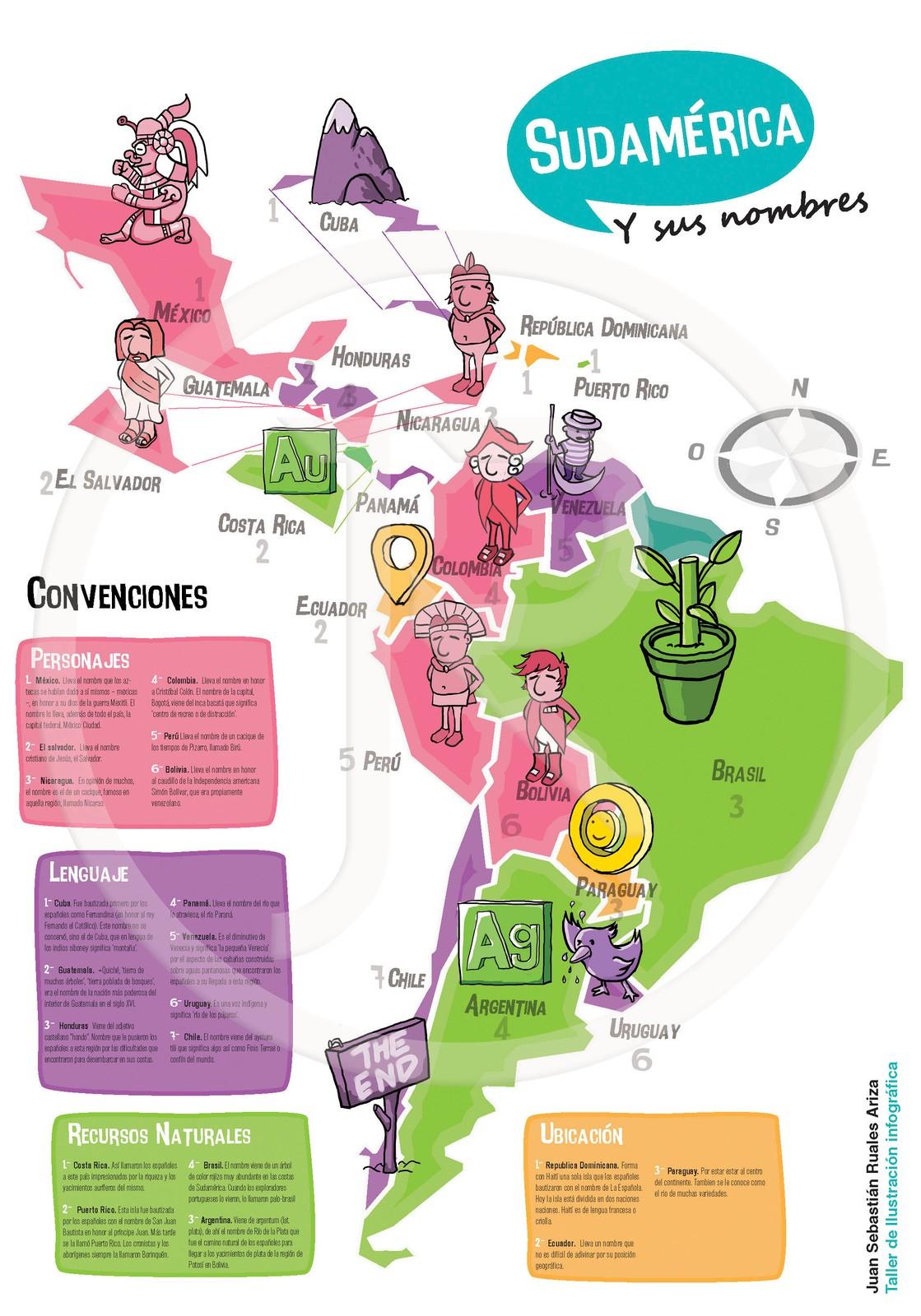 Sudamérica Y Sus Nombres destiné Nombre De Region