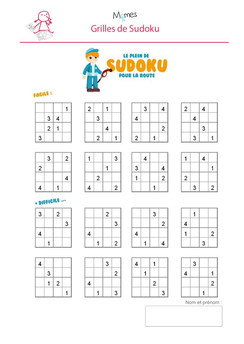 Sudoku Enfant À Imprimer - Momes destiné Jeux Pour Enfant 6 Ans
