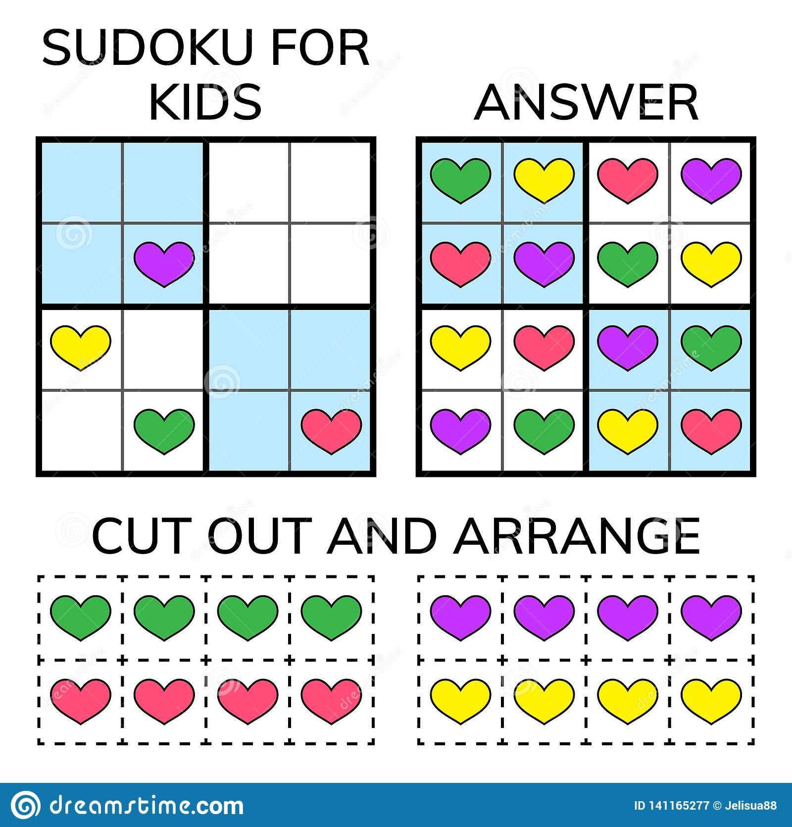 Sudoku Enfants Et Mosaïque Mathématique Adulte Grand Dos avec Rebus Enfant