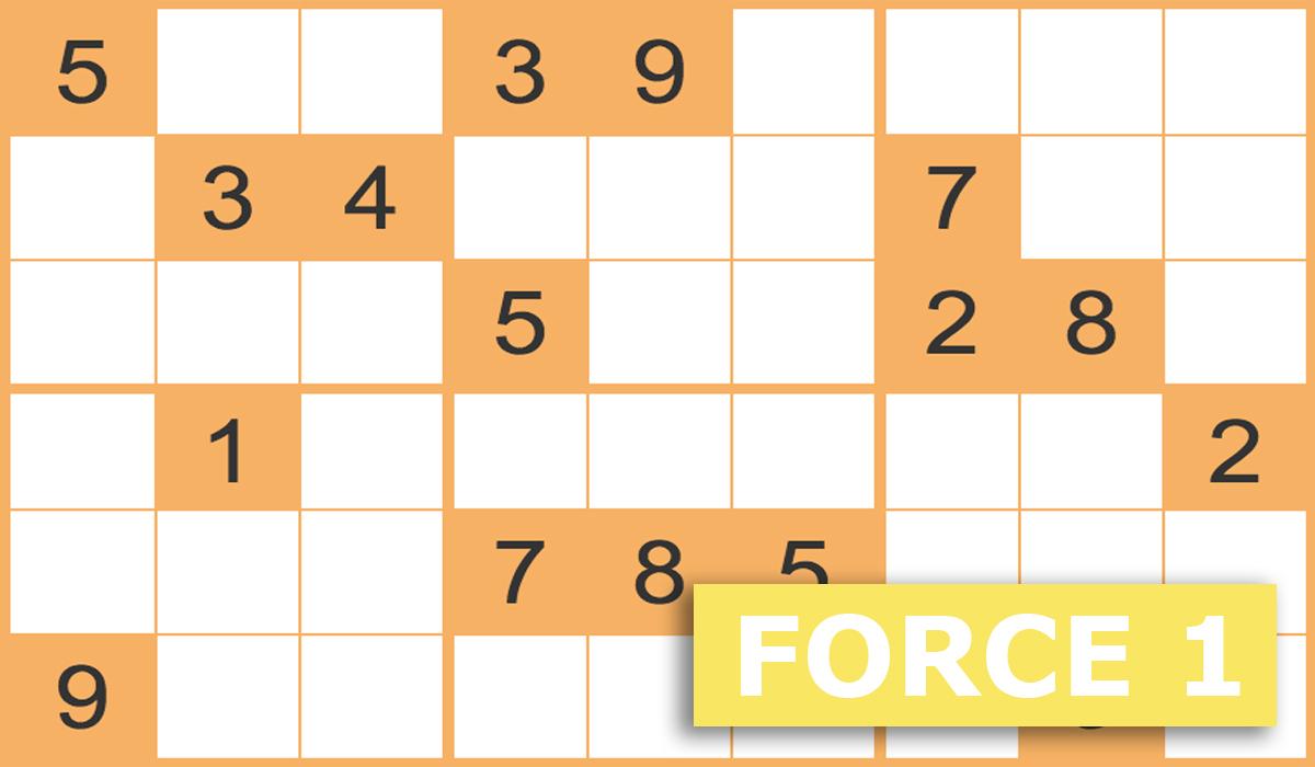 Sudoku Force 1 Gratuits En Ligne - Grilles Sudoku Force 1 à Sudoku Lettres À Imprimer