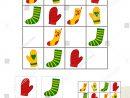 Sudoku Game Children Pictures Kids Activity Stok Vektör dedans Rebus Noel