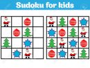 Sudoku Game For Children With Pictures. Logic Game For Preschool.. pour Rebus Noel