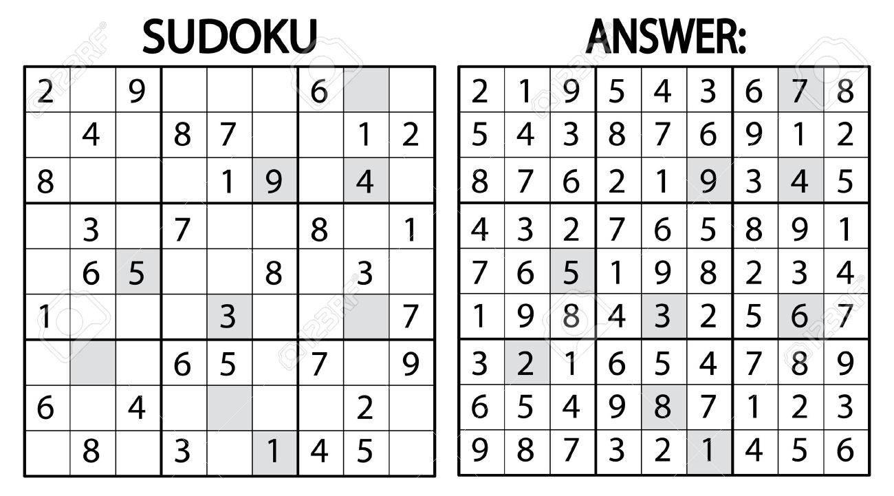 Sudoku Jeu De Puzzle. Sudoku Jeu De Puzzle Avec Des Nombres. Peut Être  Utilisé Comme Jeu Éducatif Pour Les Enfants Ou Jeu De Loisirs Pour Adultes dedans Sudoku Pour Enfant
