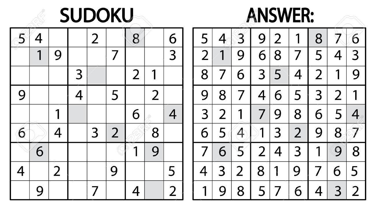 Sudoku Jeu De Puzzle. Sudoku Jeu De Puzzle Avec Des Nombres. Peut Être  Utilisé Comme Jeu Éducatif Pour Les Enfants Ou Jeu De Loisirs Pour Adultes encequiconcerne Sudoku Pour Enfant