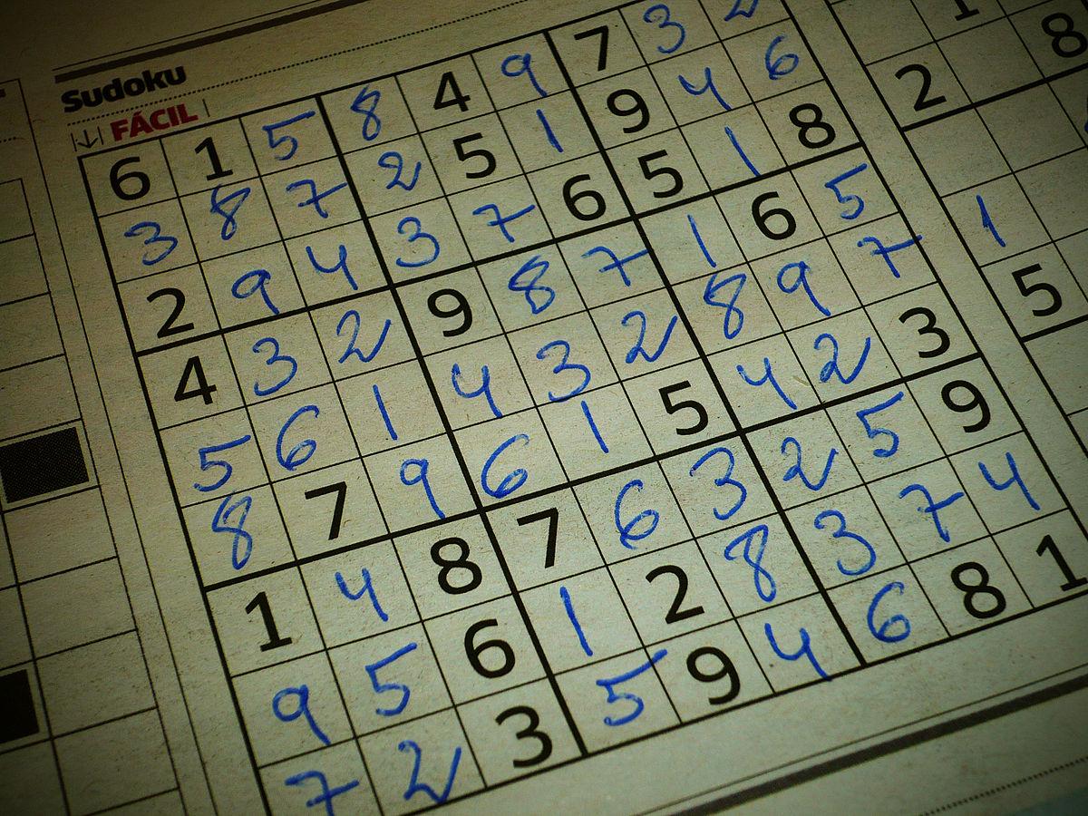 Sudoku — Wikipédia à Jeu De Mot Croisé