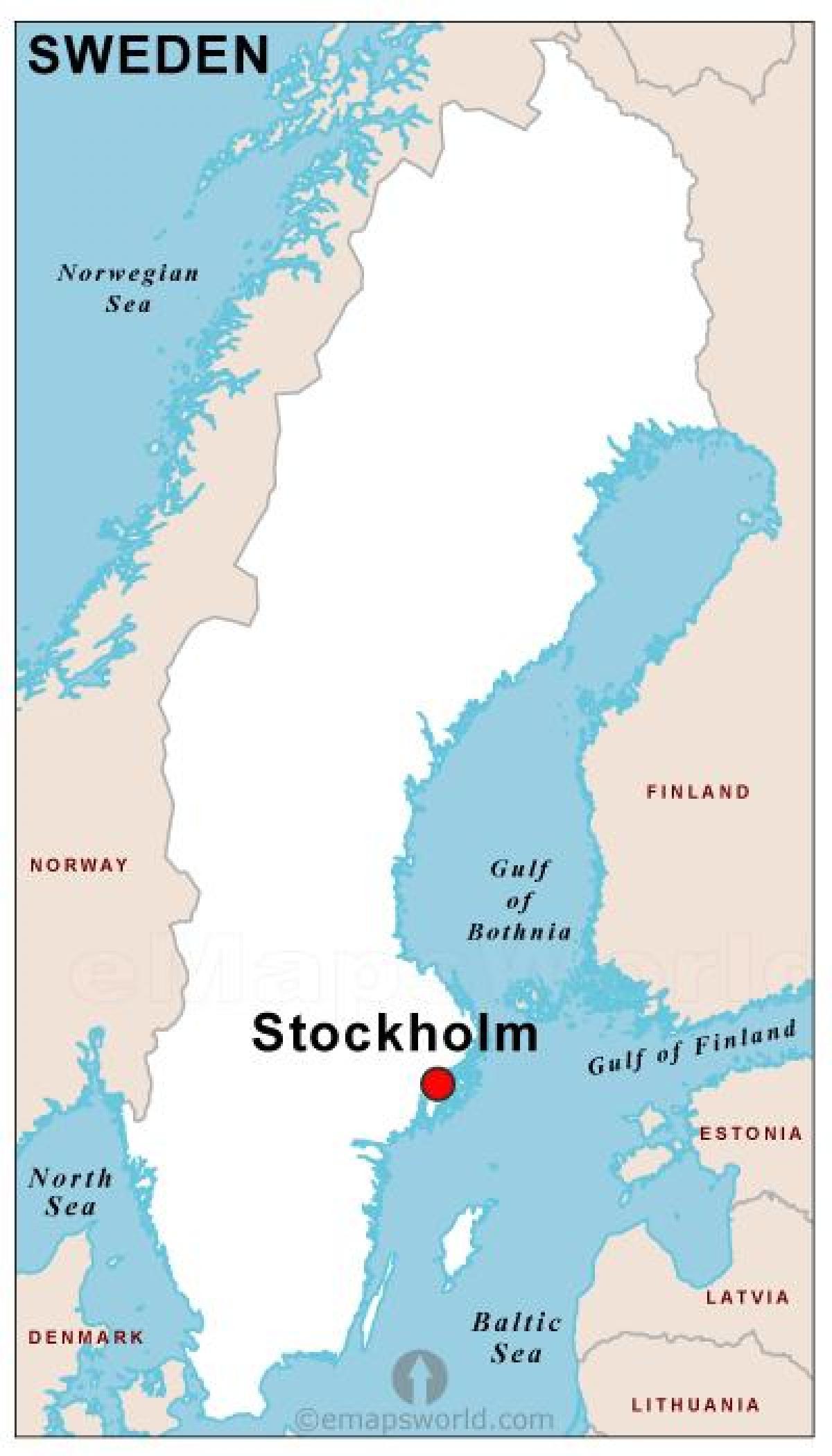 Suède Capital De La Carte - Capitale De La Suède, De La tout Carte Capitale Europe