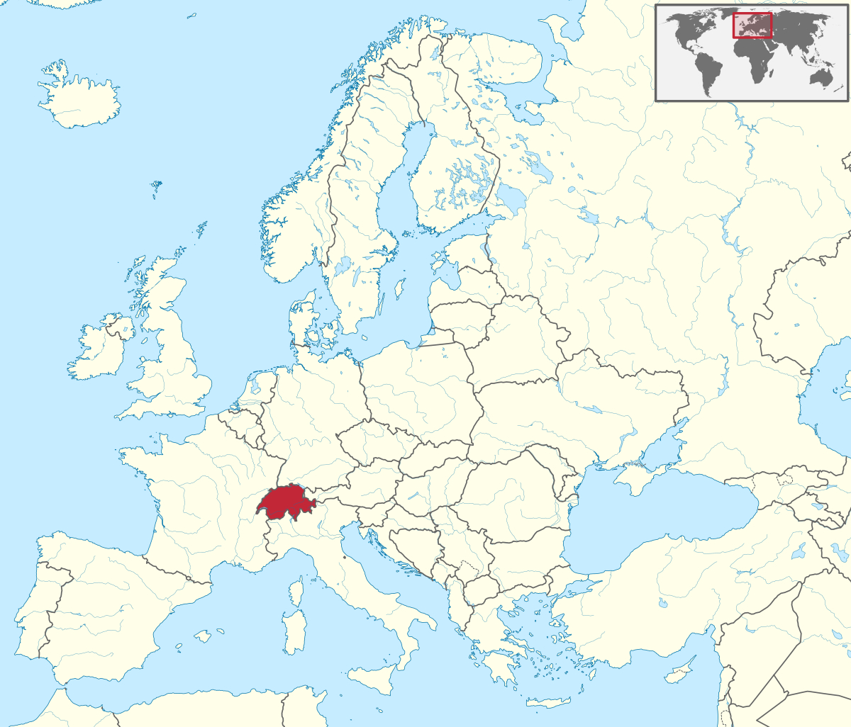 Suisse — Wikipédia intérieur Carte Europe Avec Capitale