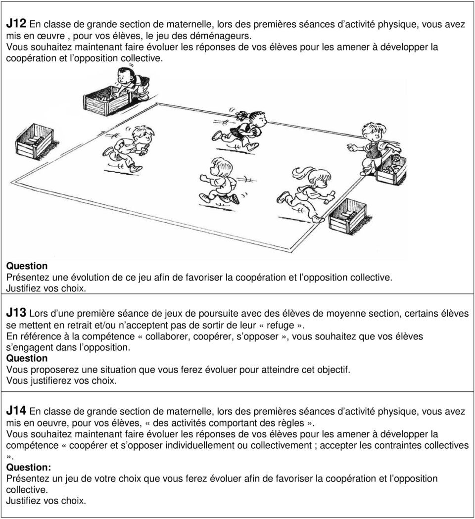 Sujet Jeux Collectifs Sports Collectifs Cycle 1 - Pdf Free tout Jeux Maternelle Grande Section