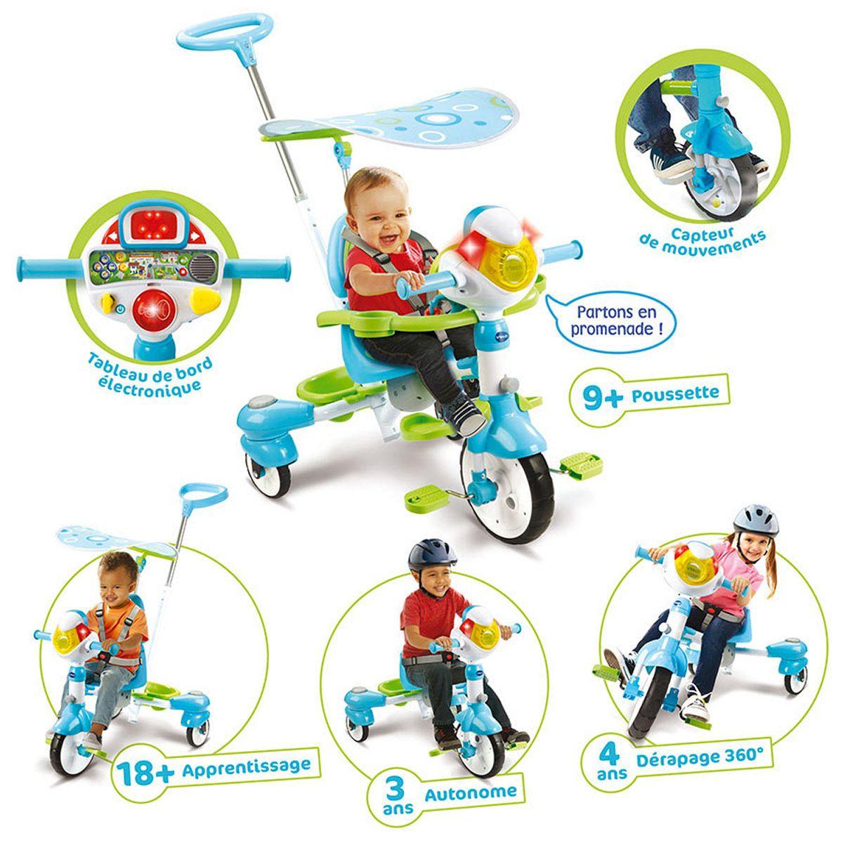 Super Tricycle Interactif 6 En 1 Bleu - Sport Et Jeux D tout Jeux Interactifs 6 Ans
