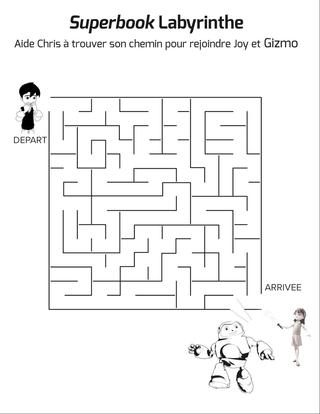 Superbook Labyrinthe De Superbook - Gizmo - Jeu À Imprimer tout Labyrinthe A Imprimer