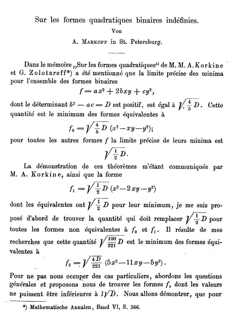 Sur Les Formes Quadratiques Binaires Indéfinies serapportantà Association De Formes
