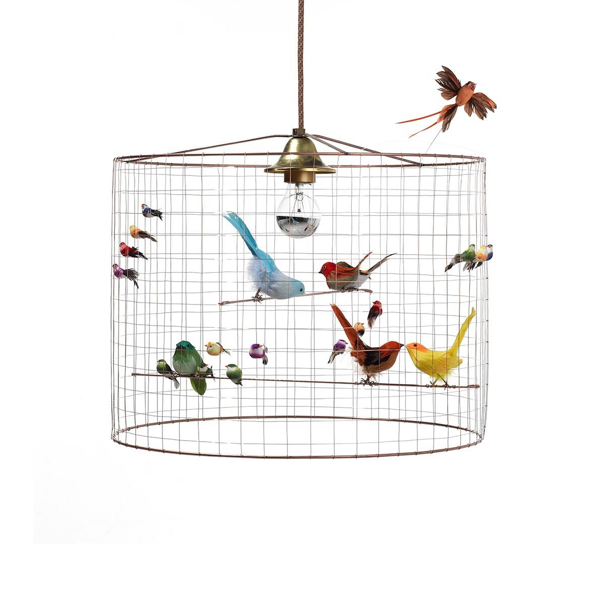 Suspension - Petite Volière Mathieu Challières serapportantà Dessin De Cage D Oiseau