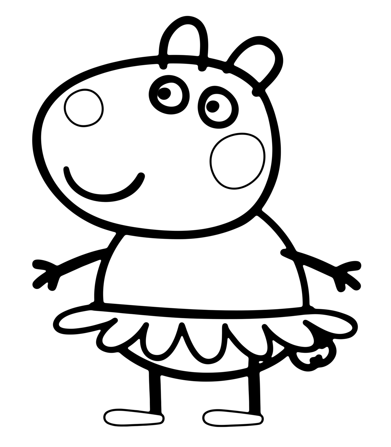 Suzy Sheep In Peppa Pig Coloring Page | Peppa Pig Colouring serapportantà Peppa Pig A Colorier