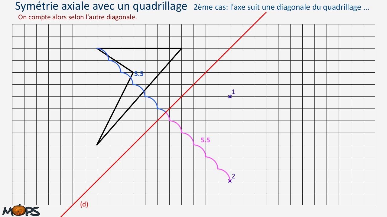 Symaxiale Quad2 dedans Symétrie Quadrillage