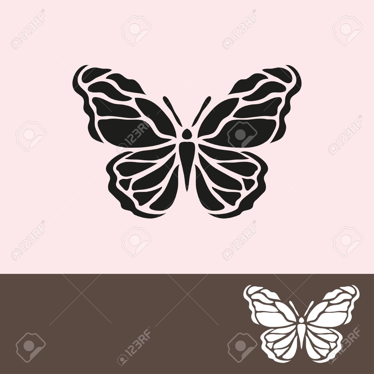 Symbole De Papillon Abstrait, Élément De Design. Peut Être Utilisé Pour Des  Invitations, Cartes De Voeux, Scrapbooking, D'impression, Les Étiquettes, destiné Etiquette Papillon A Imprimer
