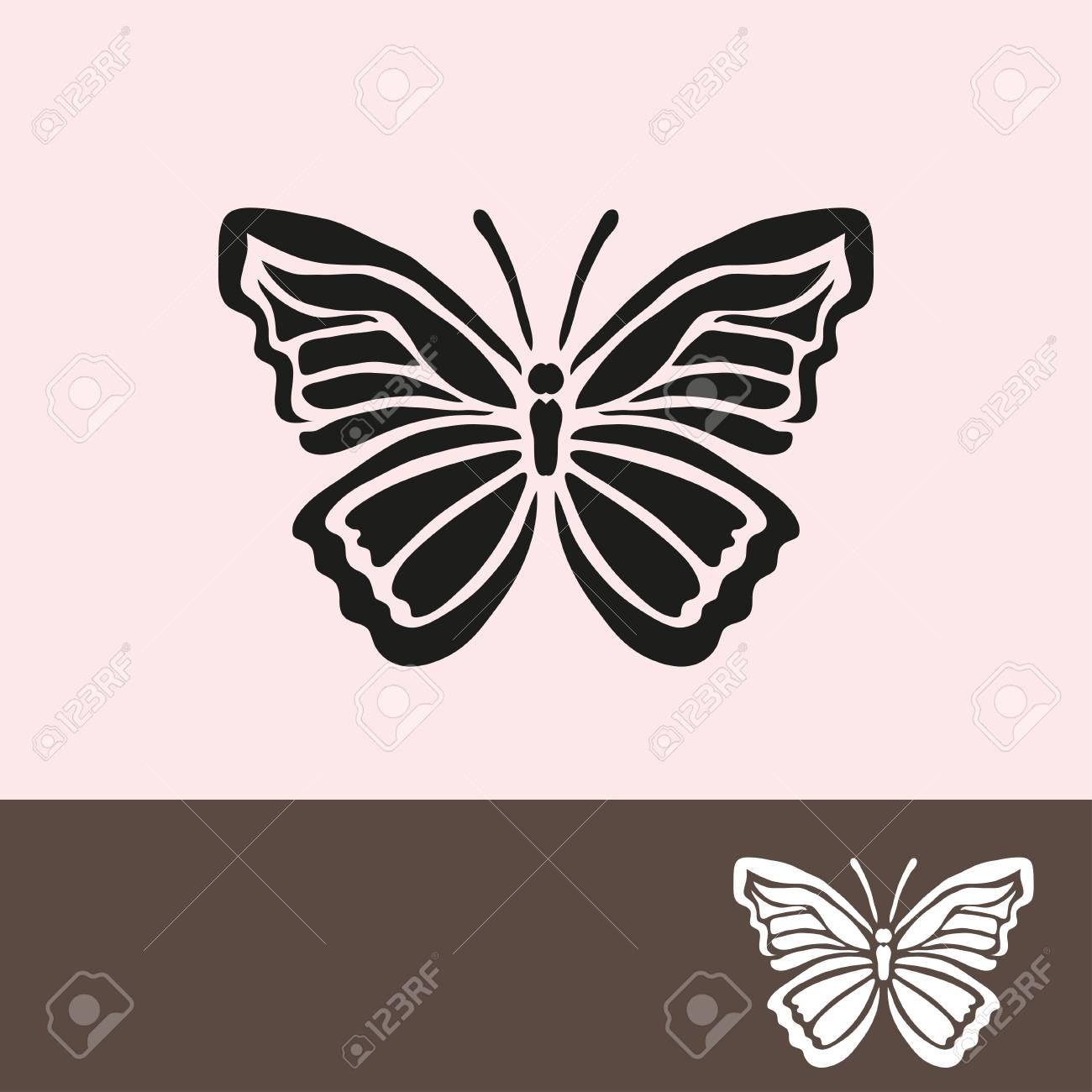Symbole De Papillon Abstrait, Élément De Design. Peut Être Utilisé Pour Des  Invitations, Cartes De Voeux, Scrapbooking, D'impression, Les Étiquettes, intérieur Etiquette Papillon A Imprimer