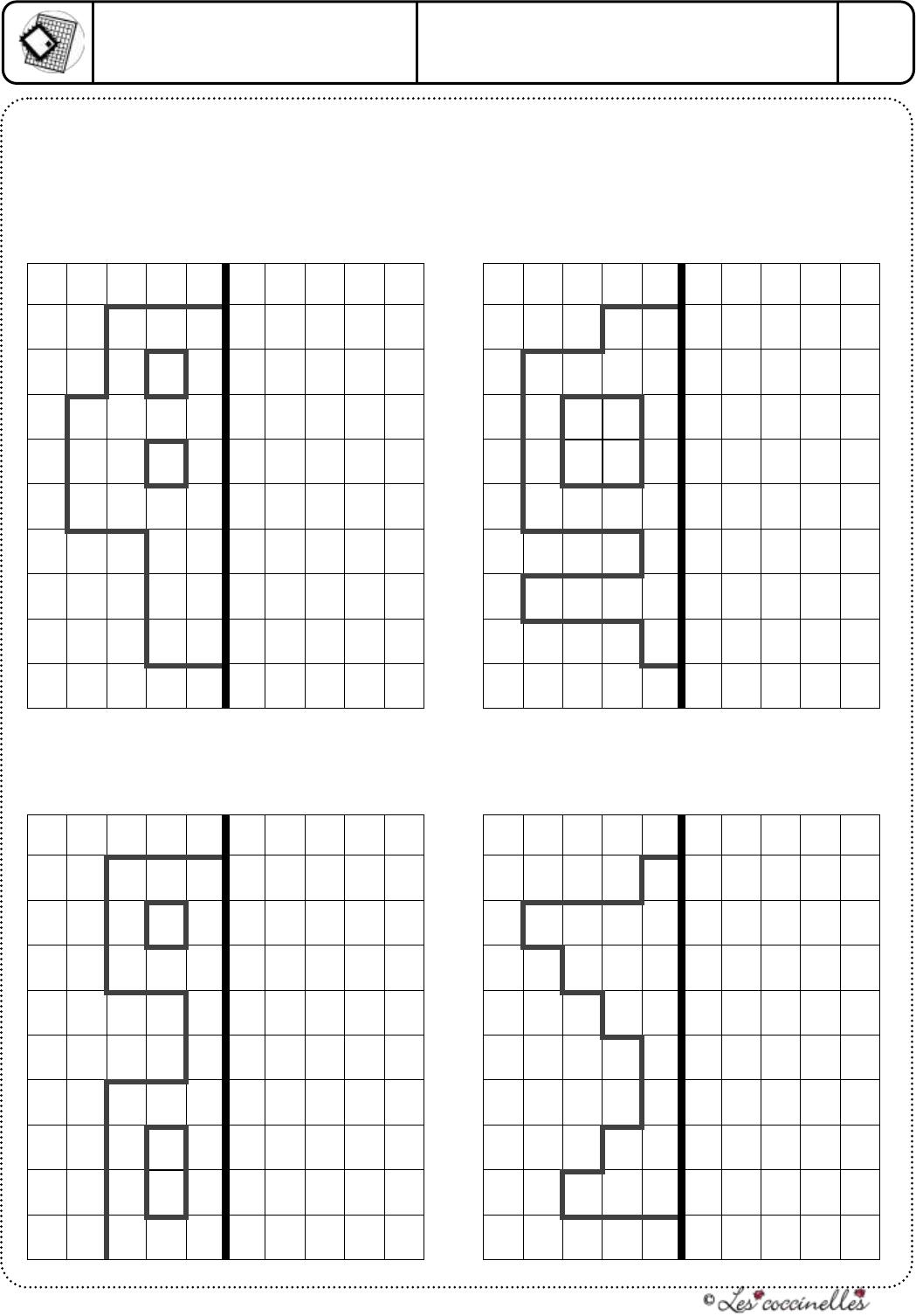 Symetrie Axiale 16 Quadrillage - [Pdf Document] pour Symétrie Quadrillage