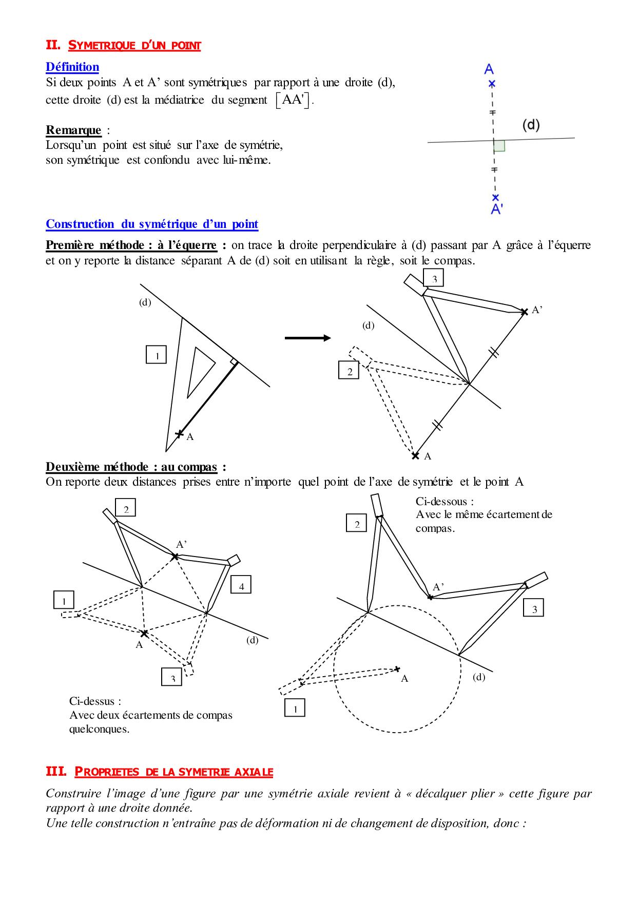 Symétrie Axiale - Cours 2 (Fr) - Alloschool avec Symetrie Axial