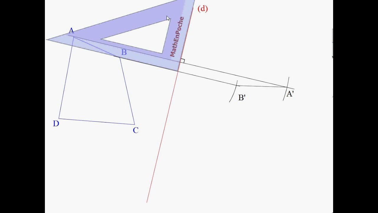 Symetrie Axiale Equerre encequiconcerne Symetrie Axial