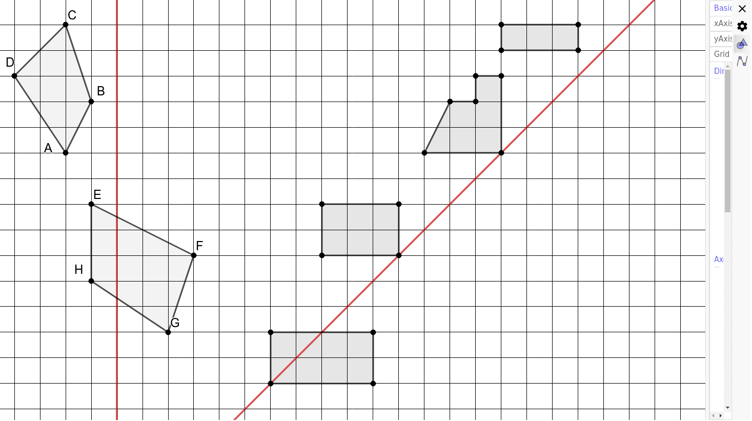 Symetrie Axiale Exercices – Geogebra serapportantà Symetrie Axial