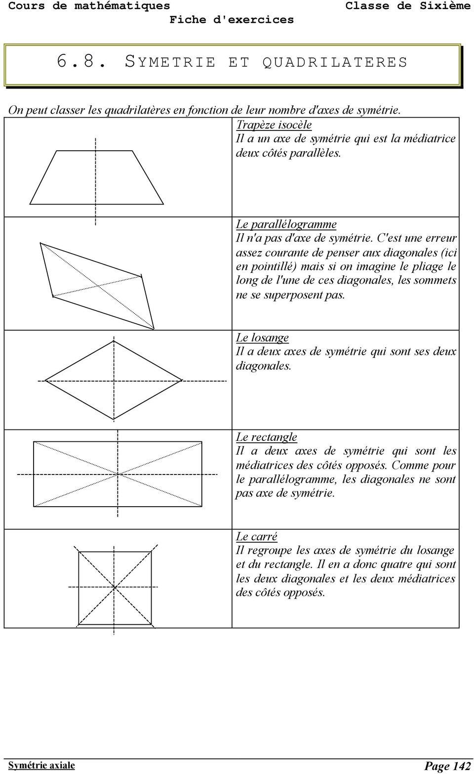 Symétrie Axiale Page Pdf Téléchargement Gratuit avec Symétrie Cm1 Évaluation