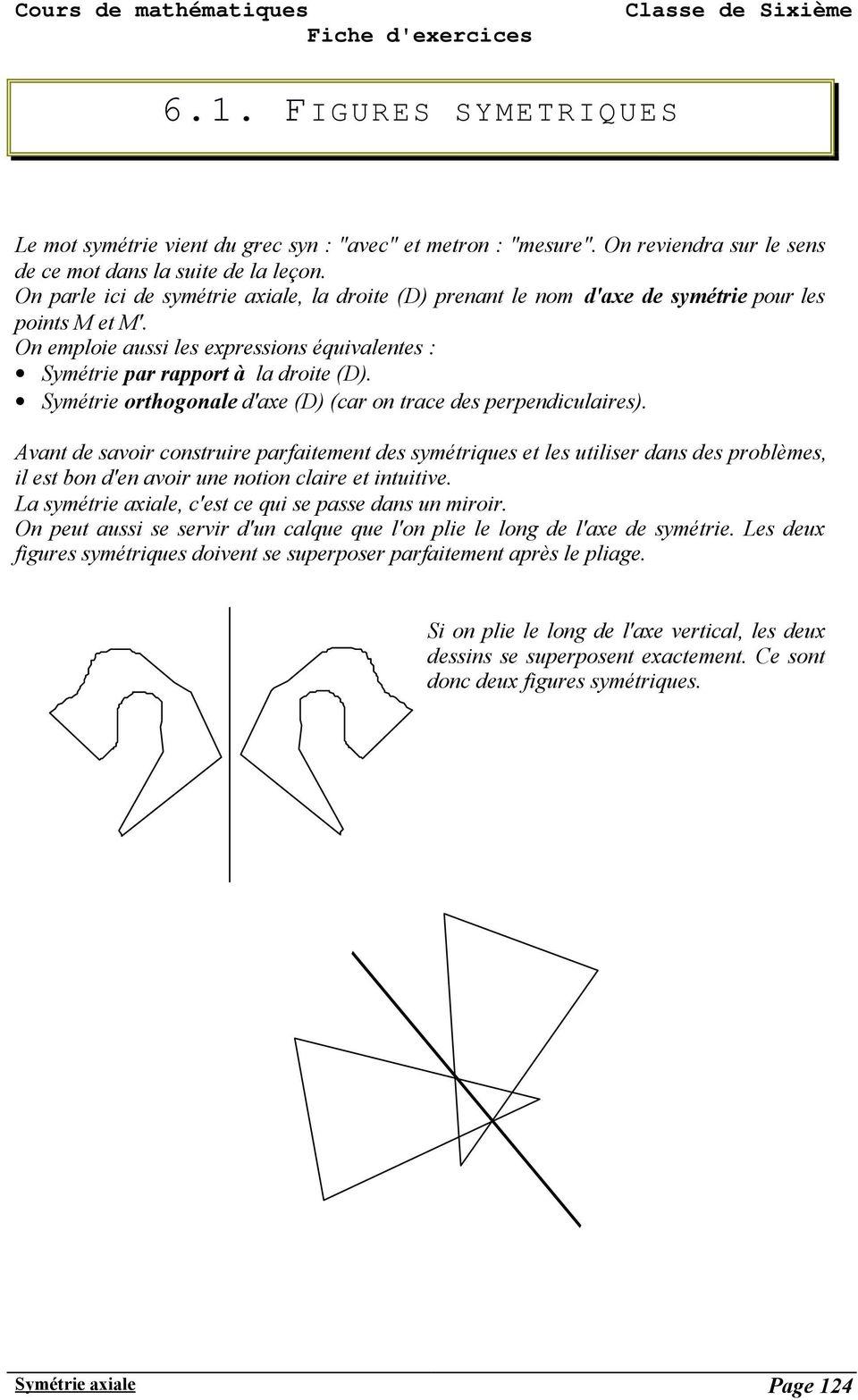 Symétrie Axiale Page Pdf Téléchargement Gratuit tout Symétrie Quadrillage