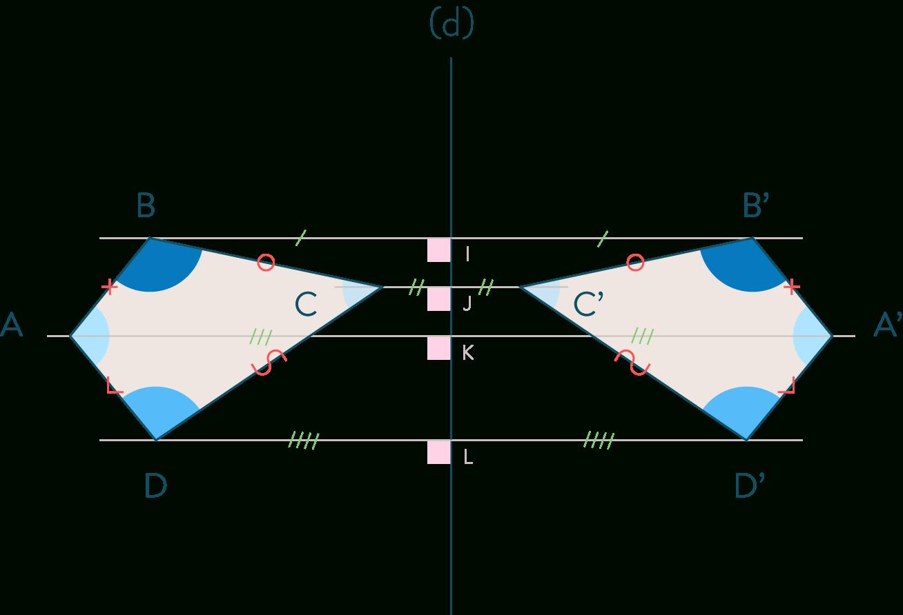 Symétrie Centrale Et Axiale : Fiche De Cours - Mathématiques serapportantà Symetrie Axial