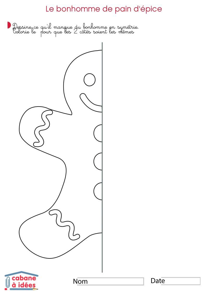 Symétrie De Noël - Cabane À Idées serapportantà Dessin Symétrique A Imprimer