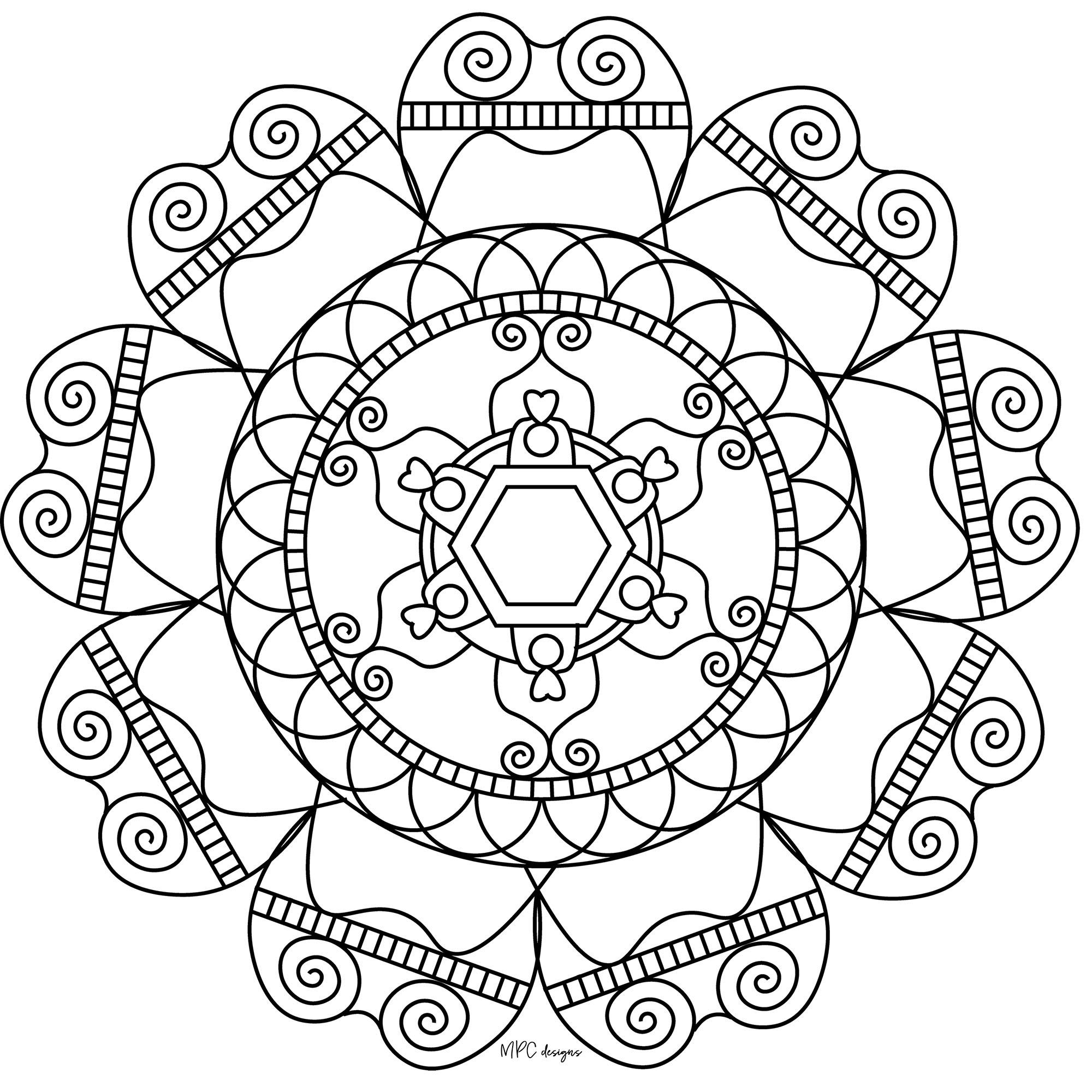 Symétrie Et Simplicité - Mandalas Zen & Anti-Stress - 100 serapportantà Symétrie A Imprimer