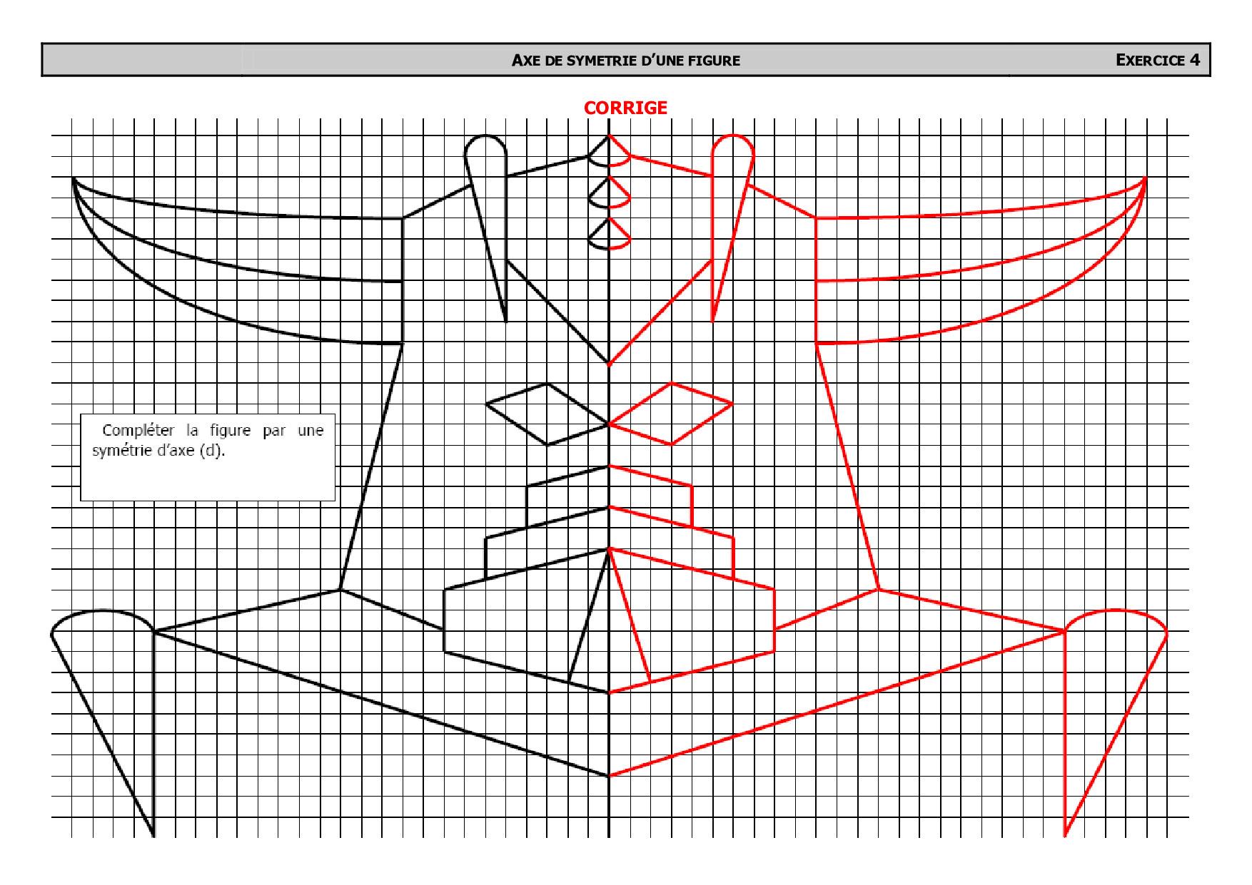 Symétrique De Goldorak Avec Quadrillage - Corrigé D destiné Symétrie Quadrillage