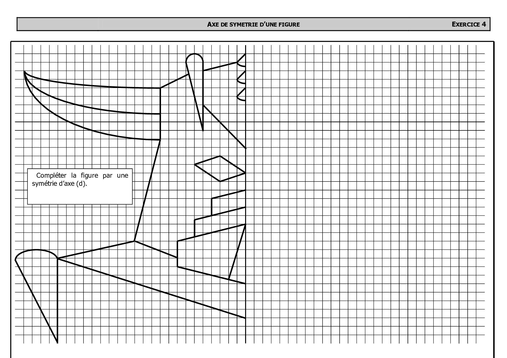 Symétrique De Goldorak Avec Quadrillage - Exercices - Alloschool pour Symétrie Quadrillage