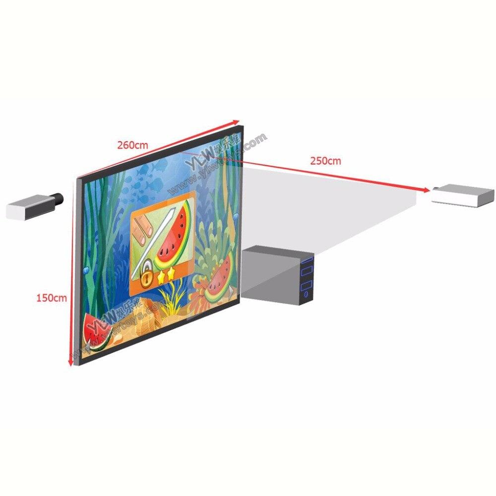 Système De Projection Interactif 3D Aire De Jeux Intérieure pour Jeu Interactif Enfant
