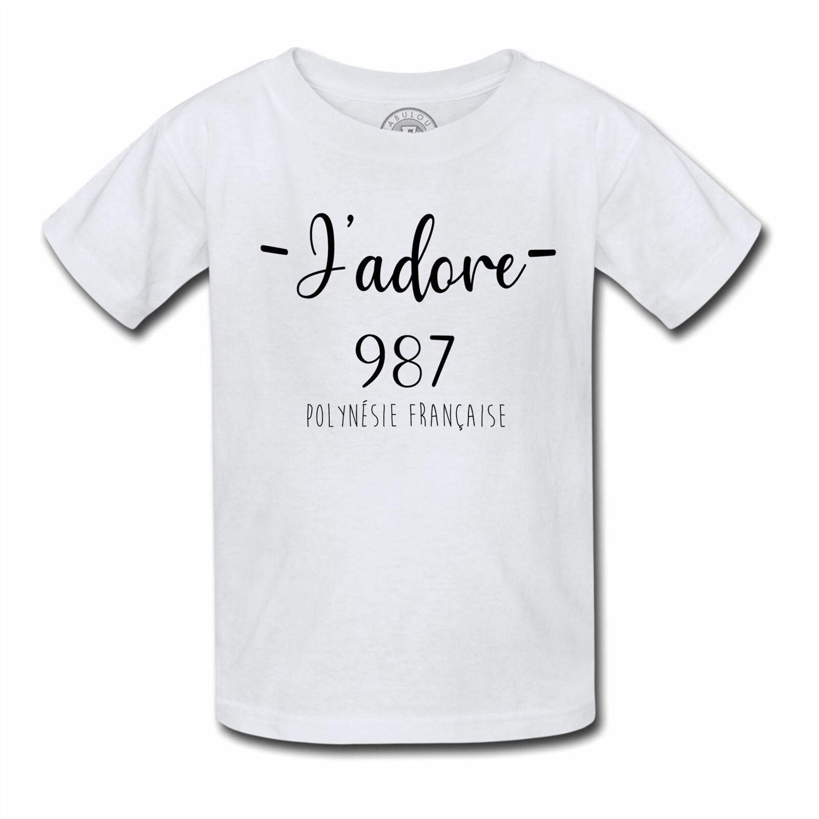 T-Shirt Enfant J'adore 987 Departement France Region destiné Région Et Département France