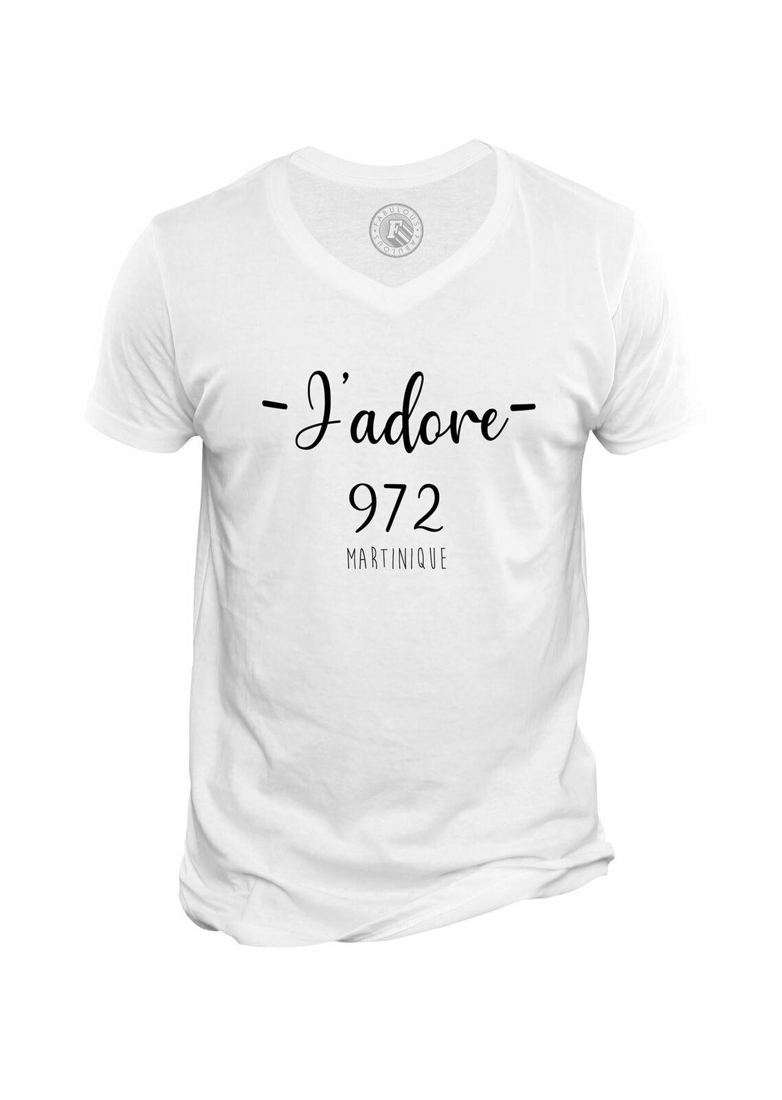 T-Shirt Homme Col V J'adore 972 Martinique Departement destiné Région Et Département France