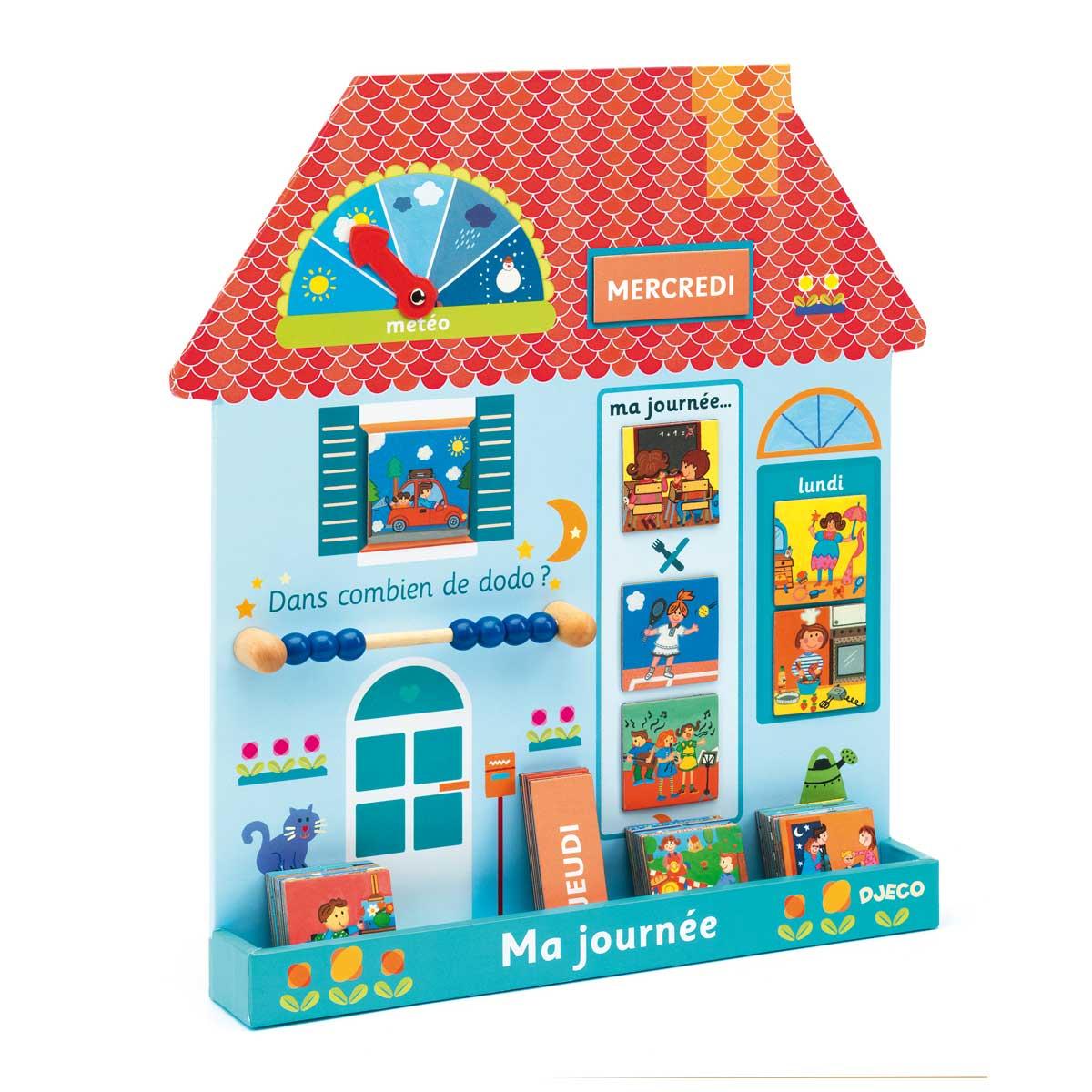 Tableau Magnétique Maison Ma Journée avec Jeux Pour Un Enfant De 3 Ans
